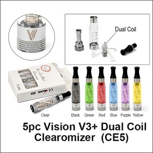 1-Vision V3+ Dual Coil Clearomizer (CE5)